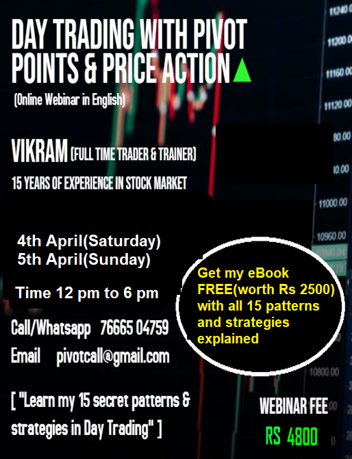 WEBINAR-DAY TRADING WITH PIVOT POINTS & PRICE ACTION(APRIL 4TH/5TH) - pivotcall.com